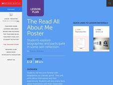The All About Me Poster Lesson Plan