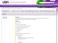 The Amazing Inch and Measuring Up! Lesson Plan