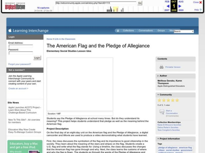 The American Flag and the Pledge of Allegiance Lesson Plan