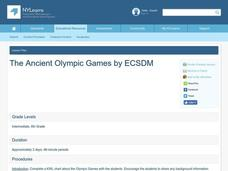 The Ancient Olympic Games Lesson Plan