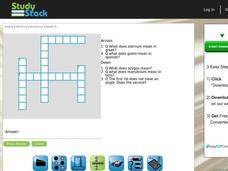 Anatomy Crossword Puzzle Interactive