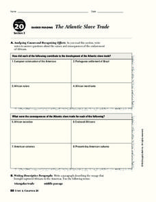 The Atlantic Slave Trade Graphic Organizer
