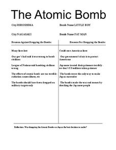 The Atomic Bomb Lesson Plan