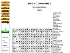 The Automobile Worksheet