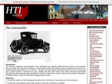 The Automobile Lesson Plan