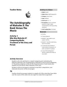 The Autobiography of Malcolm X: the Book Versus the Movie Lesson Plan