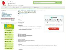 Alphabetizing Animals Lesson Plan