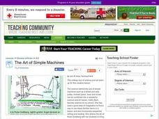 The Art of Simple Machines Lesson Plan