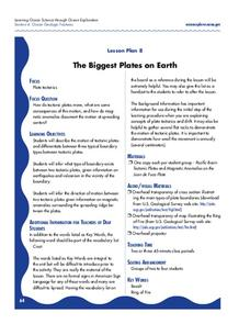 The Biggest Plates on Earth Lesson Plan