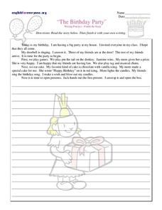 The Birthday Party Worksheet