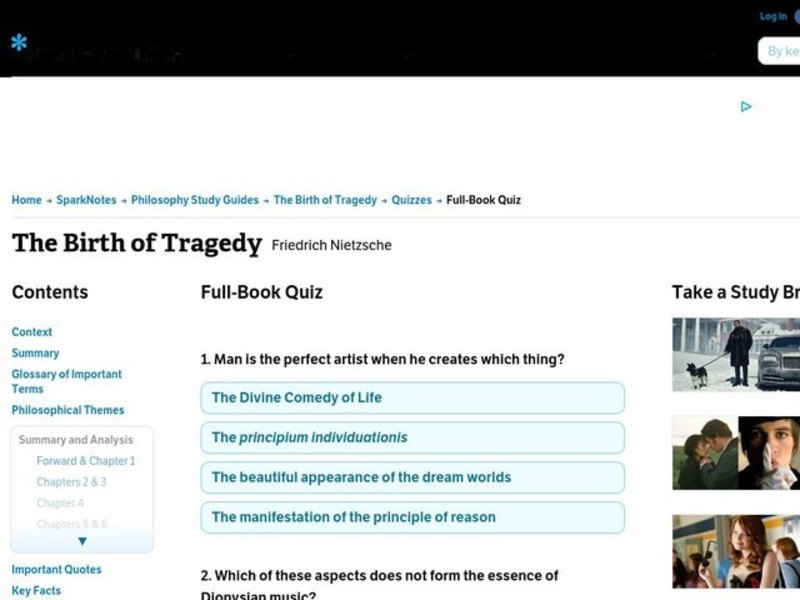 The Birth Of Tragedy Interactive For 10th 12th Grade Lesson Planet