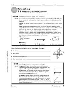 The Building Blocks of Geometry Worksheet