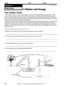 The Carbon Cycle Worksheet