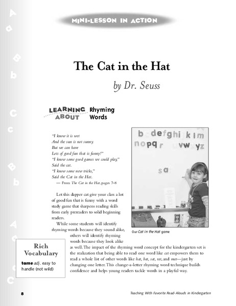 The Cat in the Hat Lesson Plan