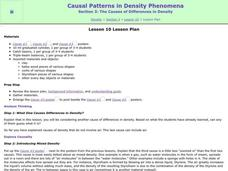 The Causes of Differences in Density Lesson Plan