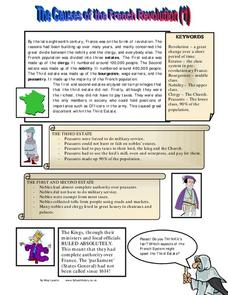 The Causes of the French Revolution Worksheet