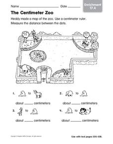 The Centimeter Zoo Worksheet