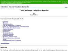 The Challenge to Deliver Insulin Lesson Plan