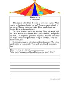 The Circus Lesson Plan