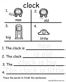 The Clock Worksheet