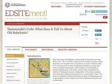 The Code of Hammurabi Lesson Plan