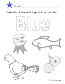 The Color Blue Lesson Plan