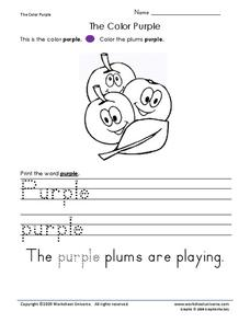 The Color Purple Worksheet