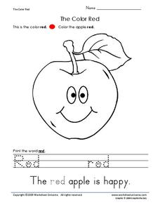 The Color Red Worksheet