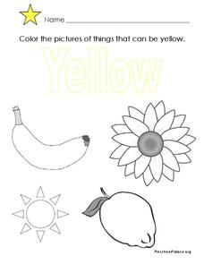 The Color Yellow Lesson Plan