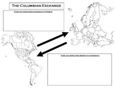 The Columbian Exchange Printables & Template