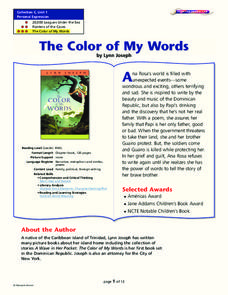 The Color of My Words Lesson Plan