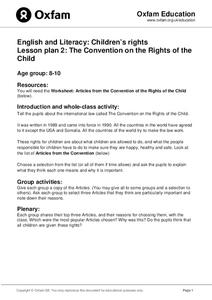 The Convention on the Rights of the Child Lesson Plan