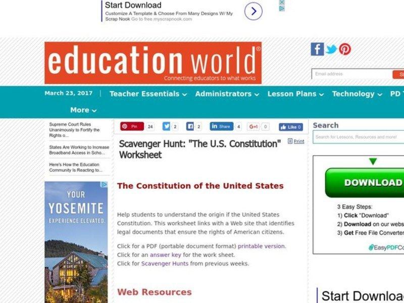 The Constitution of the United States Lesson Plan