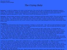 The Crying Baby Lesson Plan