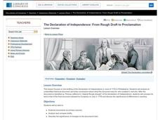 The Declaration of Independence: From Rough Draft to Proclamation Lesson Plan