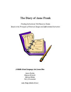The Diary of Anne Frank Lesson Plan