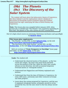 The Discovery Of The Solar System Lesson Plan