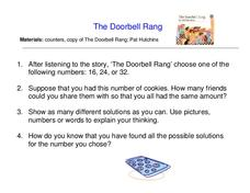 The Doorbell Rang Worksheet