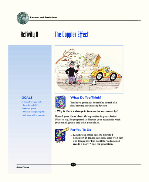 The Doppler Effect Activities Project For 7th 12th Grade