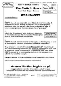 The Earth in Space Worksheet