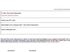 The Earth's Dimensions Lesson Plan