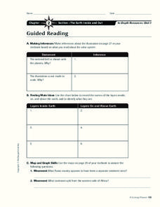 The Earth Inside and Out Worksheet