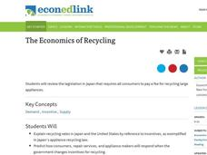 The Economics of Recycling Lesson Plan
