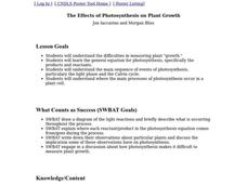 The Effects of Photosynthesis on Plant Growth Lesson Plan