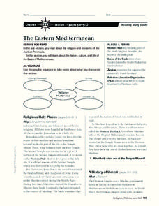 The Eastern Mediterranean Graphic Organizer