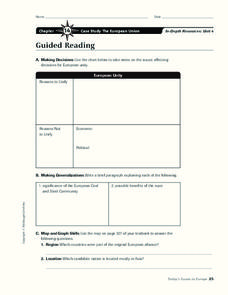English worksheets: EUROPEAN UNION WEBQUEST