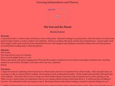 The Fast and the Fluent Lesson Plan