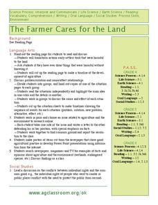 The Farmer Cares for the Land Lesson Plan