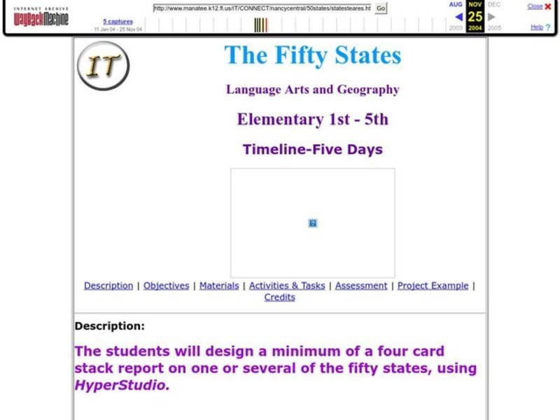 The Fifty States Lesson Plan