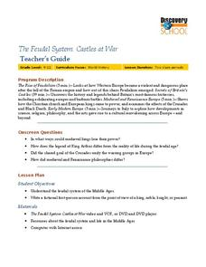 The Feudal System: Castles at War Lesson Plan